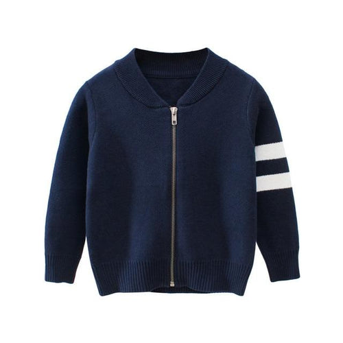 Knitted Jacket with 2 Stripes - Bombibib