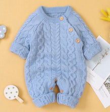 Load image into Gallery viewer, Knitted Long Sleeve Baby Romper for Winter - Bombibib