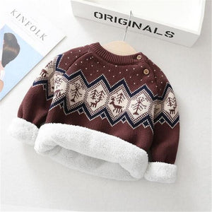 Thick Cozy Velvet Winter Sweater - Bombibib