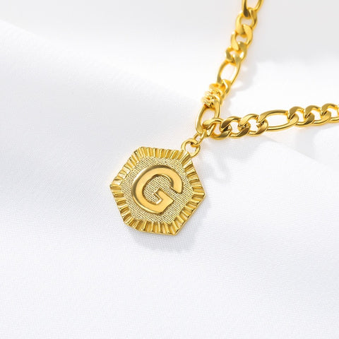 Stainless Steel Initial 'G' Anklet