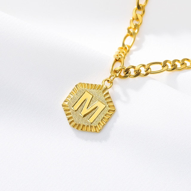 Stainless Steel Initial 'M' Anklet