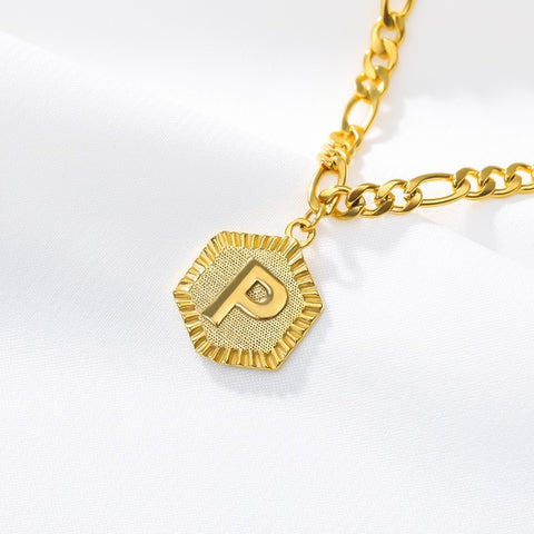 Stainless Steel Initial 'P' Anklet