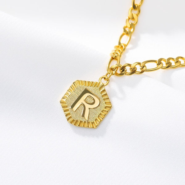 Stainless Steel Initial 'R' Anklet