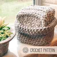 Reusable Cotton Cloths and Basket - Crochet Pattern