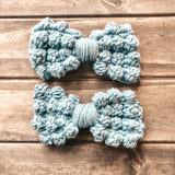 Bobble Bow Clip - Crochet Pattern
