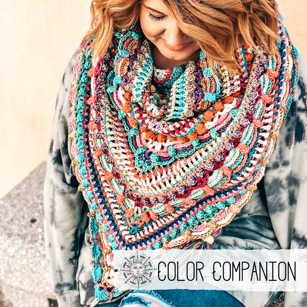 Printable - Lost in Time Shawl Color Companion