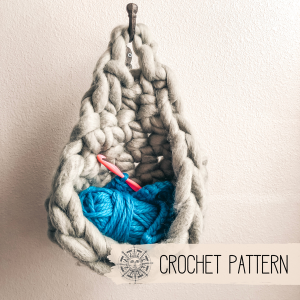 White Sage Hanging Basket - Crochet Pattern
