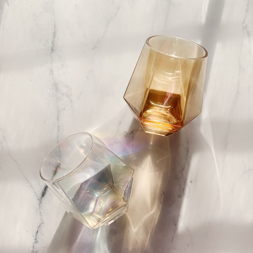 Iridescent Diamond Wine Glass