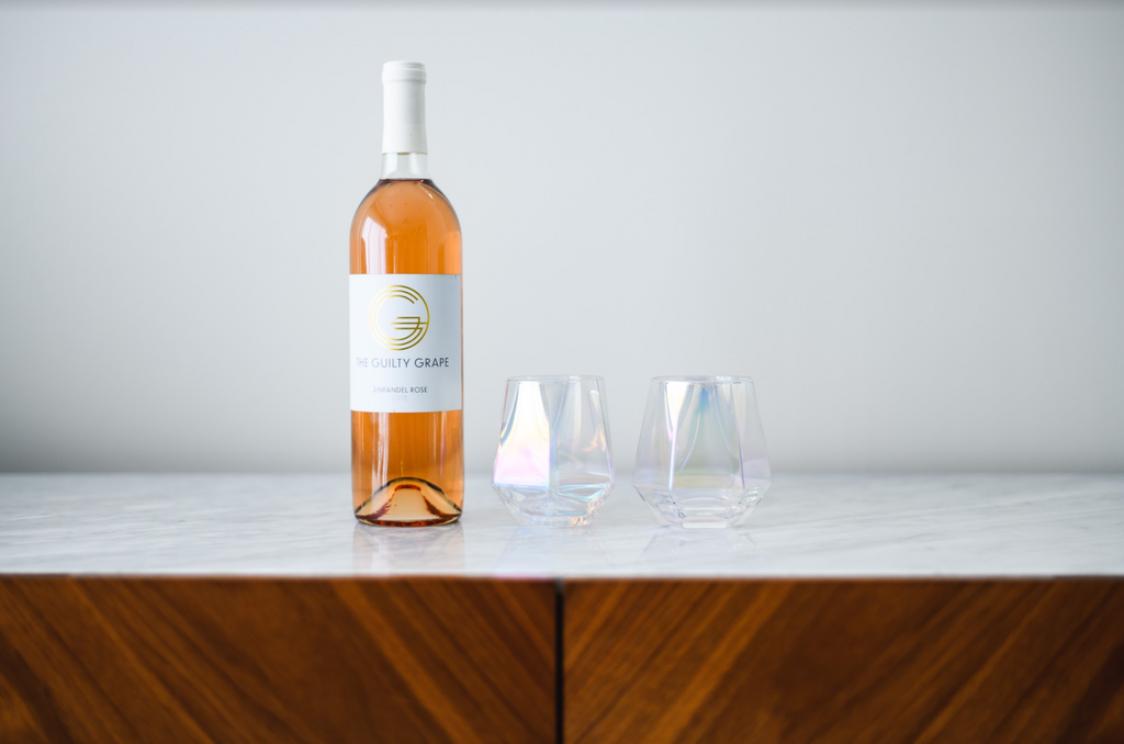 Rosé Wine Glasses Set