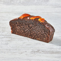 Chocolate and candied orange pound cake