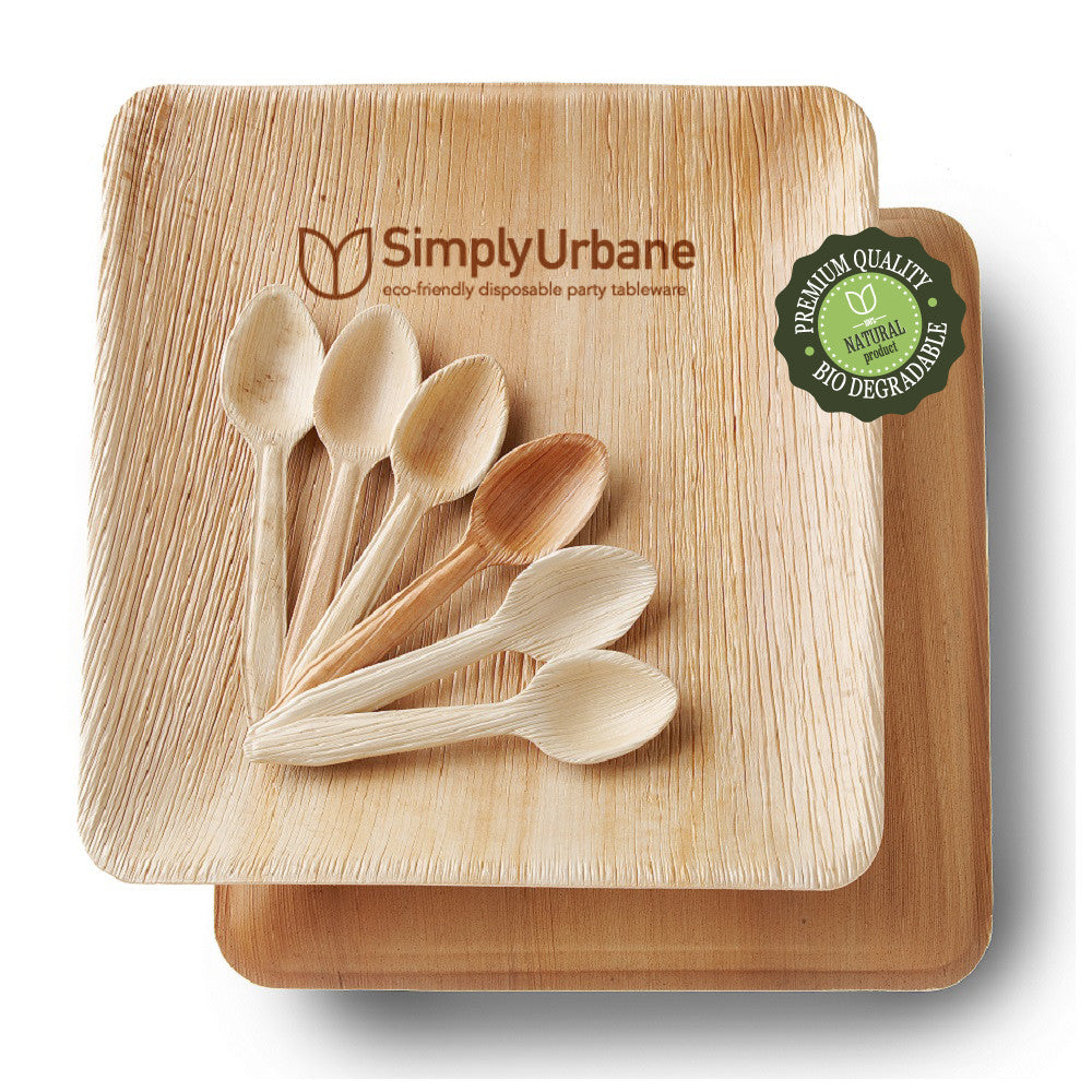 10\  Square Dinner Plate  sc 1 st  Simply Urbane : eco friendly disposable plates - pezcame.com