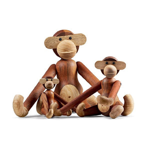MONKEY MINI TEAK AND LIMBA <br> Figura de madera <br> Kay Bojesen