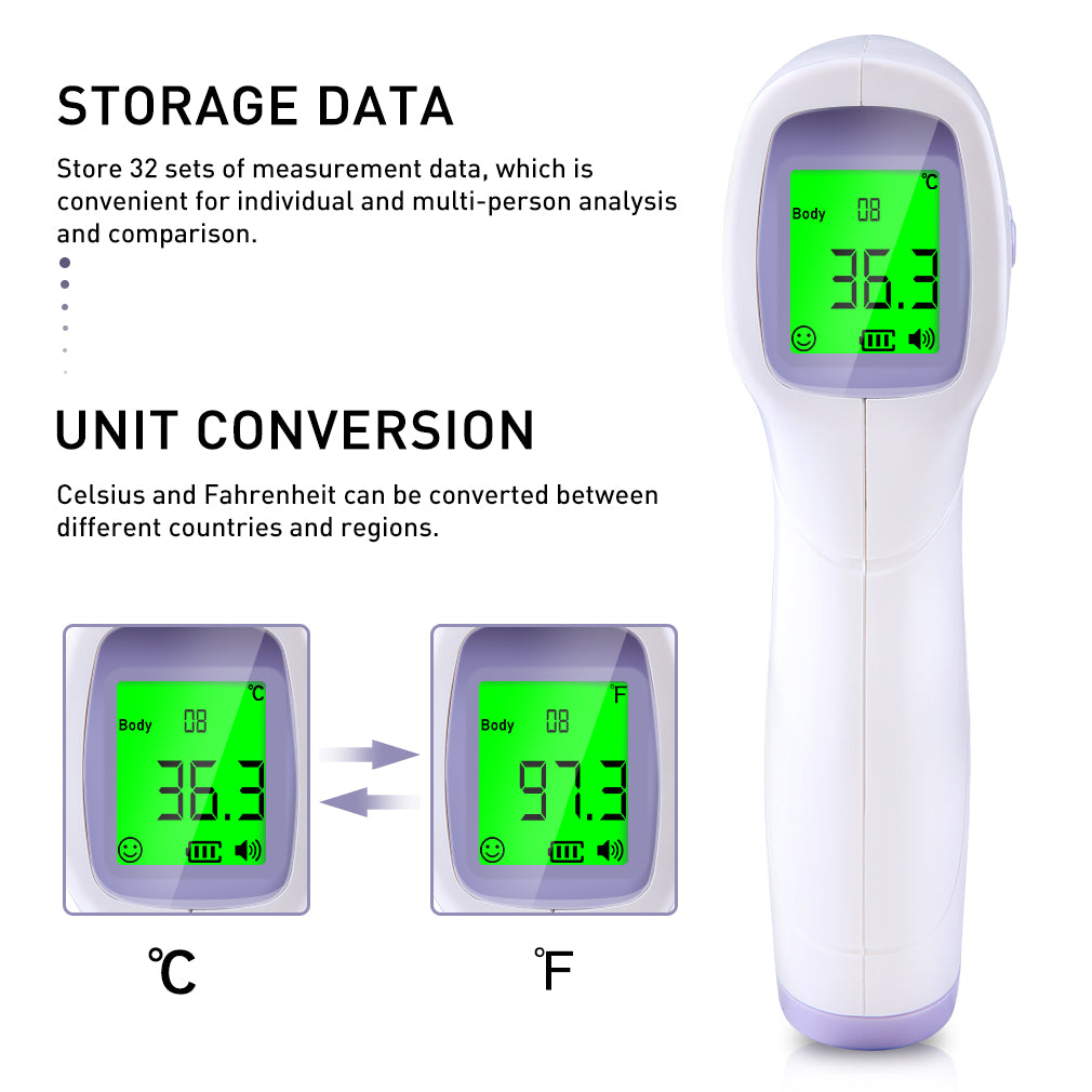 Non-Contact Forehead Temperature Tool High Precision Thermometer Industrial Temperature Meter