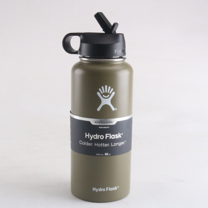 Hydro Flask 32oz Sports Water Bottle 40oz HydroFlask Stainless Steel Insulated Water Bottle Brand vsco Hydro Flask Straw Lid