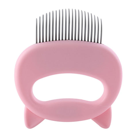 Pet Massage Brush Shell Shaped Handle Pet Grooming Massage Tool To Remove Loose Hairs Only For Cats New