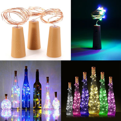 Battery-powered cork wine bottle light 1m / 2m DIY LED string light bar light birthday party wine bottle stopper light strip