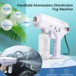 1200W Handheld Atomization Disinfection Fog Machine Stage Smoke Machine Blue Light Nano Steam Gun Hair Spray Machine 220V 110V