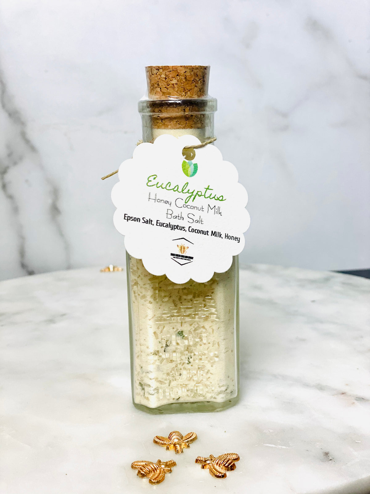 Eucalyptus Honey Coconut Milk Bath Salts (8 oz)