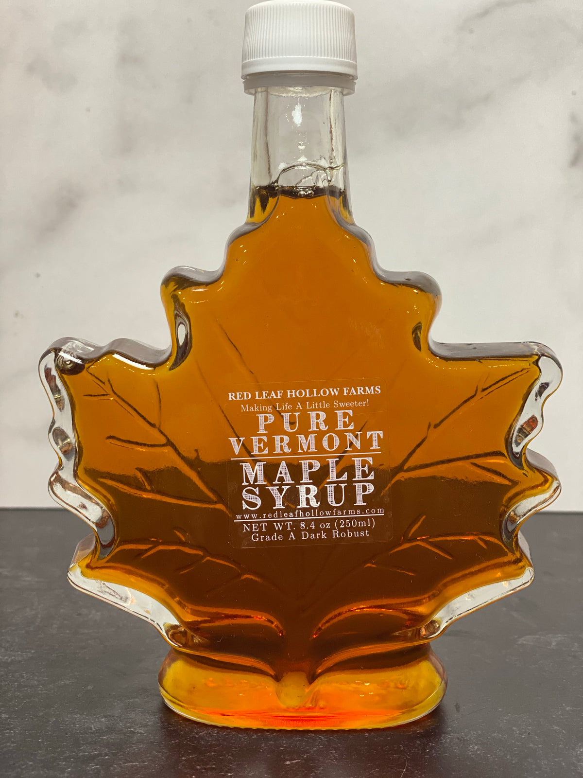 Pure Vermont Maple Syrup from Red Hollow Farms ( 8 oz) Leaf