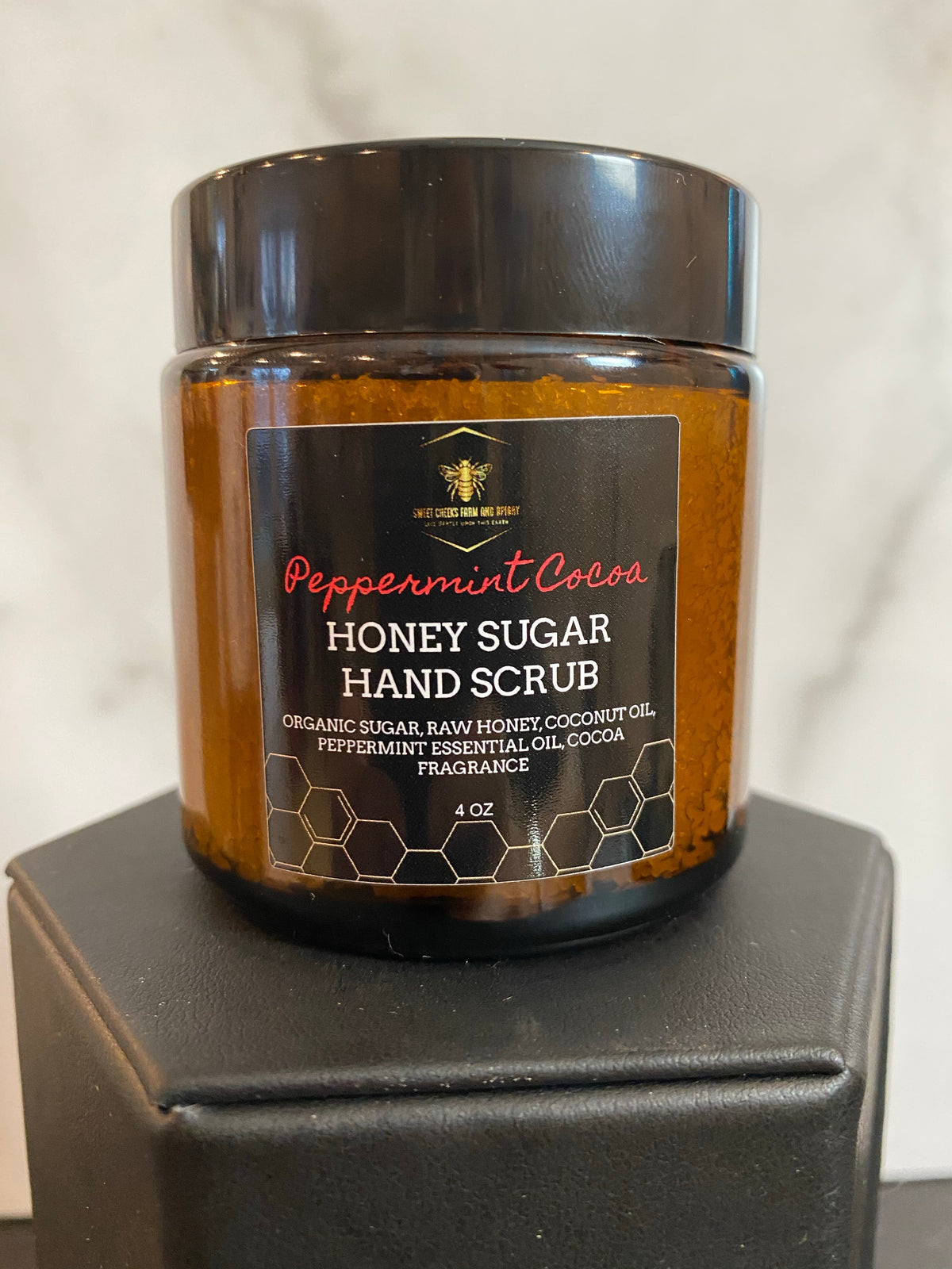 Peppermint Cocoa Honey Hand Sugar Scrub 4 oz