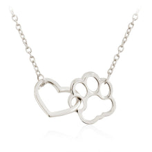 Load image into Gallery viewer, Hollow Pet Paw Print Necklace