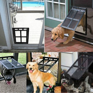Lockable Plastic Pet Door - Whiskerr