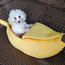 Load image into Gallery viewer, Cozy Banana Cat Bed - Whiskerr