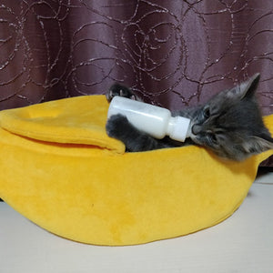 Cozy Banana Cat Bed - Whiskerr