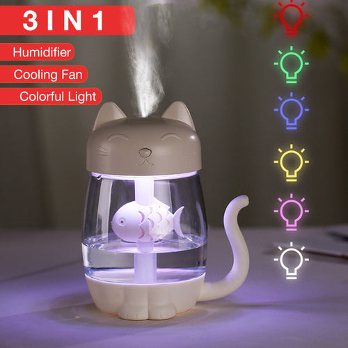 Mini Cat Ultrasonic Air Humidifier - Whiskerr