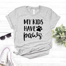 Load image into Gallery viewer, My Kids Have Paws Women T-shirt - Whiskerr