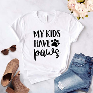 My Kids Have Paws Women T-shirt - Whiskerr