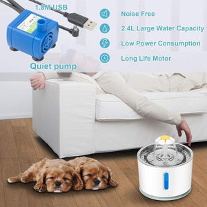 2.4L Automatic Pet Water Fountain Ultra Quiet - Whiskerr