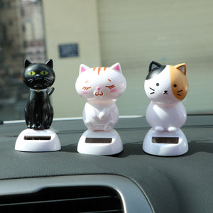 Car Ornaments Solar Powered Swinging Cat - Whiskerr