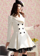 Load image into Gallery viewer, New fashion Slim Casual Women's Wool cashmere Coats double breasted trenchcoat