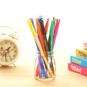 Colourfull 0.5mm Rollerball Gel Pens Fine Point Cute Cartoon Colorful Gel Pen Set Creative Gift (Color: Multicolor) wbb