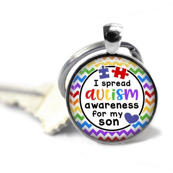 New Autism key chain - Autism mom - Autistic son - Autistic daughter - For my friend - Someone I love - For my sister - Autism awarenesstheof