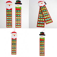 Load image into Gallery viewer, Delicate Lovely Christmas Countdown Calendar  Number Pockets Gift Tag Bag Xmas Decoration