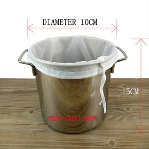 Drawstring Brew in a Bag Straining Filtering Craft Homebrew Beer Wine Brewing Nylon Strainer 160 Micron