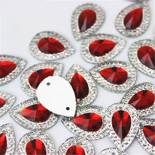 Load image into Gallery viewer, 13*18mm 40PCS Drop Flat Back Resin Buttons Scrapbooking DIY Appliques