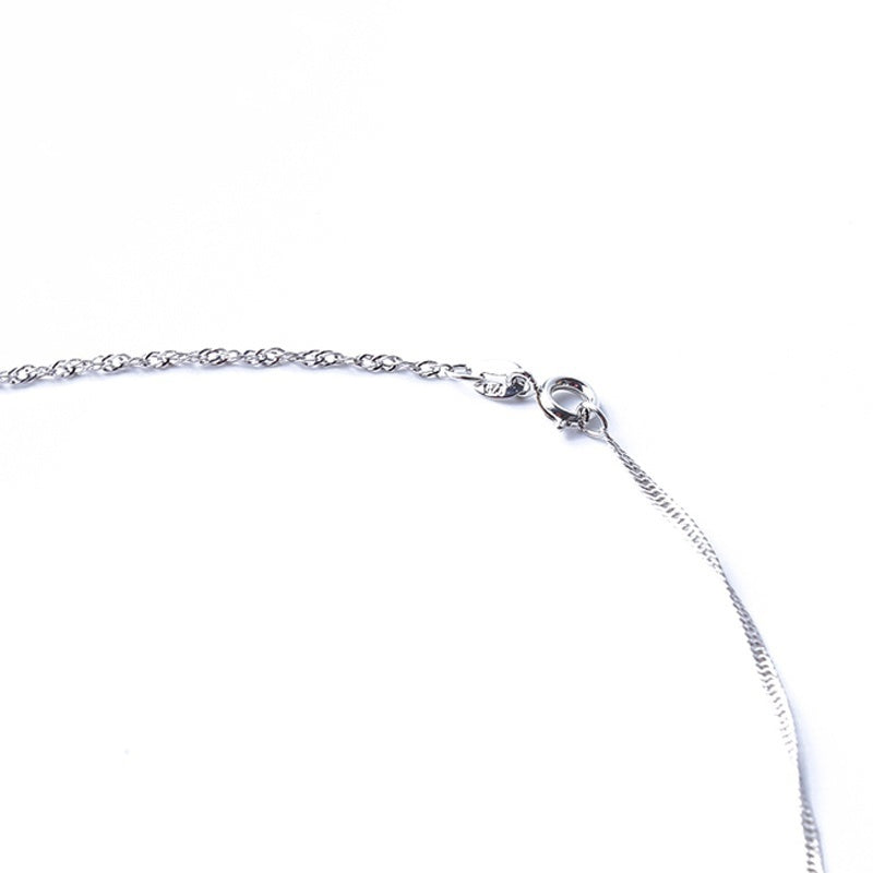 Fashion Jewelry Shiny Water Droplets Silver Princess Wedding Necklace Pendant Clavicle Chain Gift