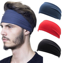 Load image into Gallery viewer, Solid Color Turban Headband For Men Women Yoga Sports Stretchy Fabric Hair Bands Head Wrap Hair Accessories