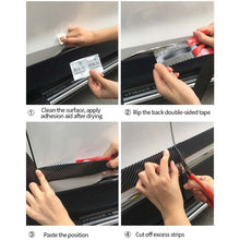 Load image into Gallery viewer, Car Sticker Anti Scratch Cars Strip Carbon Fiber Sill Stickers for Automobiles Protection Bumper Strip Auto Accessories Decor
