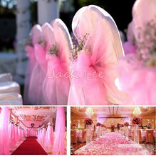 Load image into Gallery viewer, 48cm Wide * 50m Long Crystal Organza 19 Colors for Choose Tulle Roll Fabric Drapes For Wedding Birthday Party Decoration
