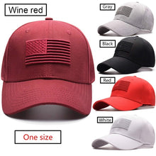 Load image into Gallery viewer, New American flag embroidery baseball cap men and women fashion casual cap