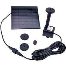 Load image into Gallery viewer, coozy? 1.2 Watt Solar Power Water Pump Garden Fountain Submersible Pump (Black)