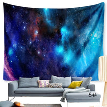 Load image into Gallery viewer, Moon and Stars Tapestry Psychedelic Tapestry Constellation Tapestry Universe Galaxy Star Tapestry Space Nebula Celestial Printed  Wall Hanging Bedroom Living Room Dorm wall Decor