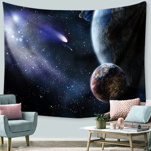 Moon and Stars Tapestry Psychedelic Tapestry Constellation Tapestry Universe Galaxy Star Tapestry Space Nebula Celestial Printed  Wall Hanging Bedroom Living Room Dorm wall Decor