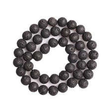 Load image into Gallery viewer, Natural Volcanic Lava Beads Stone Beads DIY Black Lava Stone Beads Round Volcanic-Stone Wholesale for Jewelry Making 4-12mm