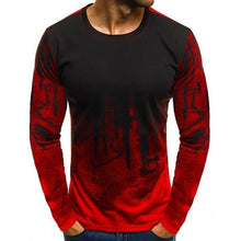 Load image into Gallery viewer, Men's Fitness Camouflage T-shirt Long Sleeved Shirt Round Neck Fashion Casual Tops