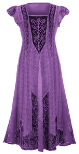 New Women Fashion Renaissance Medieval Gown Vintage Long Dress Cosplay Evening Party Lace Patchwork Embroidery Maxi Dress